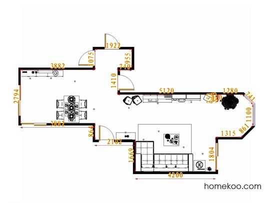 平面布置图乐维斯系列客餐厅G14191