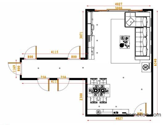 平面布置图贝斯特系列客餐厅G14207