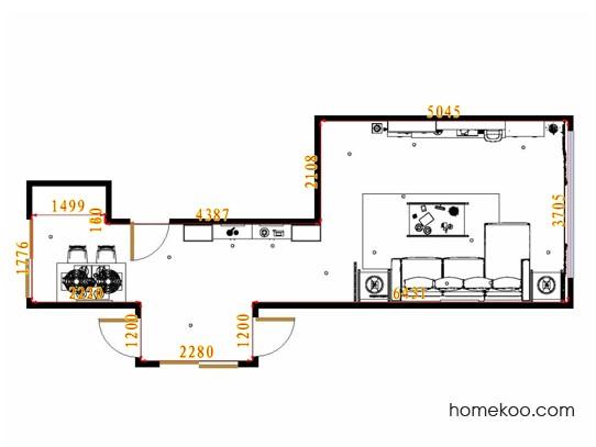 平面布置图柏俪兹系列客餐厅G14211
