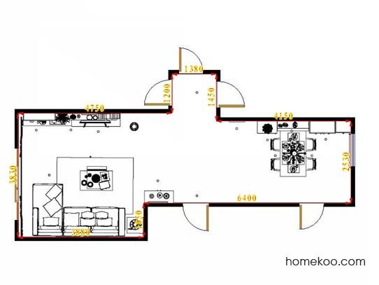 平面布置图格瑞丝系列客餐厅G14218
