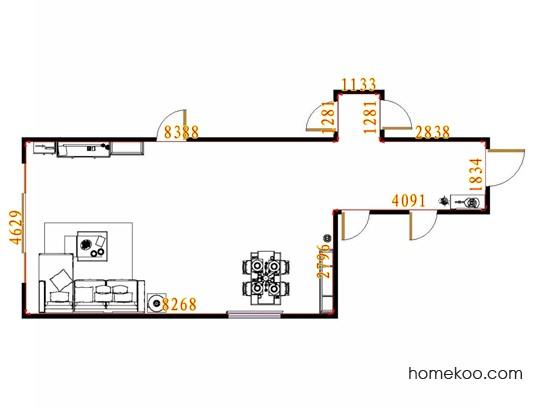 平面布置图贝斯特系列客餐厅G14234