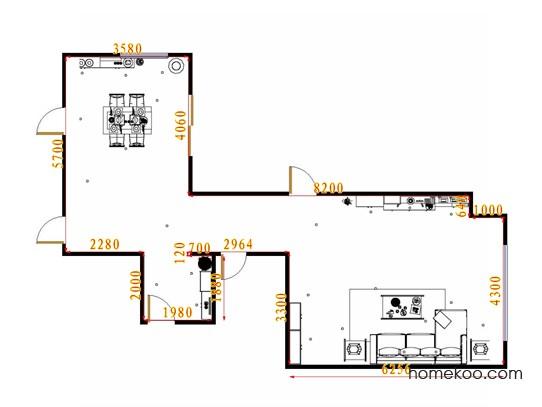 平面布置图格瑞丝系列客餐厅G14236