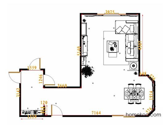 平面布置图斯玛特系列客餐厅G14237