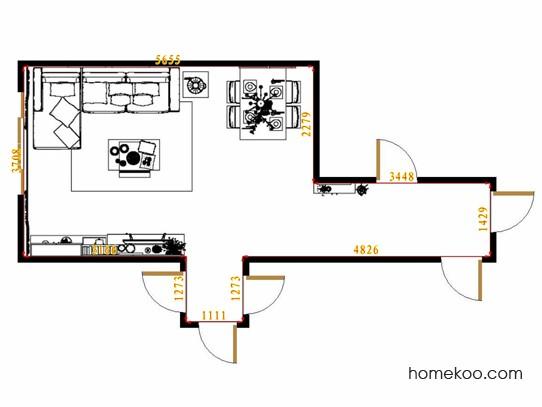 平面布置图乐维斯系列客餐厅G14253