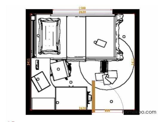 平面布置图乐维斯系列青少年房B12149