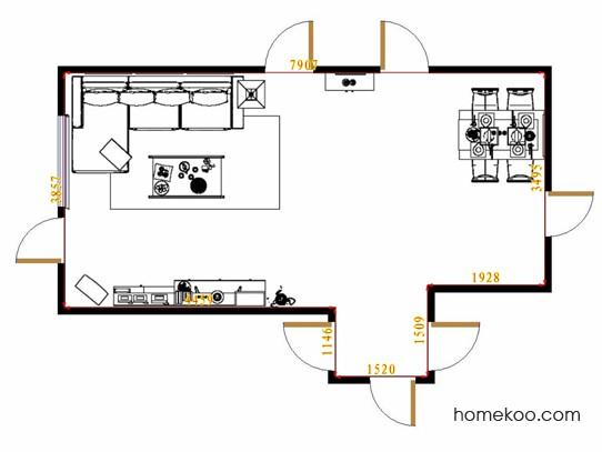 平面布置图格瑞丝系列客餐厅G14277