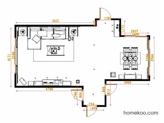 平面布置图德丽卡系列客餐厅G14299