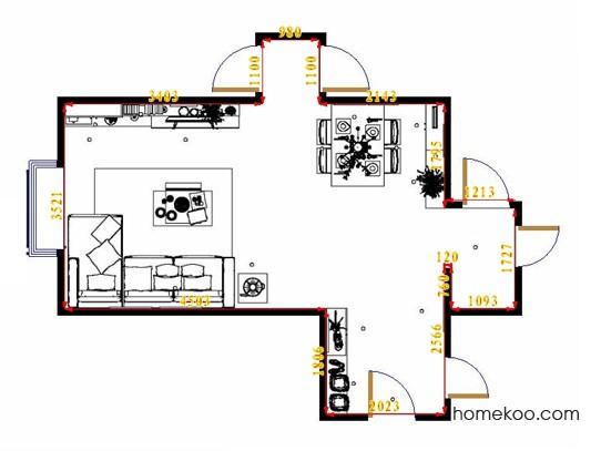 平面布置图德丽卡系列客餐厅G14317