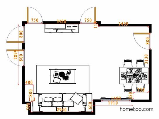 平面布置图乐维斯系列客餐厅G14341