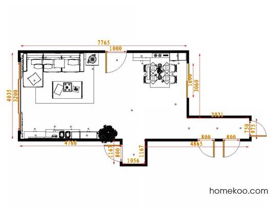 平面布置图斯玛特系列客餐厅G14350