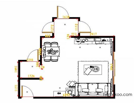 平面布置图德丽卡系列客餐厅G14354