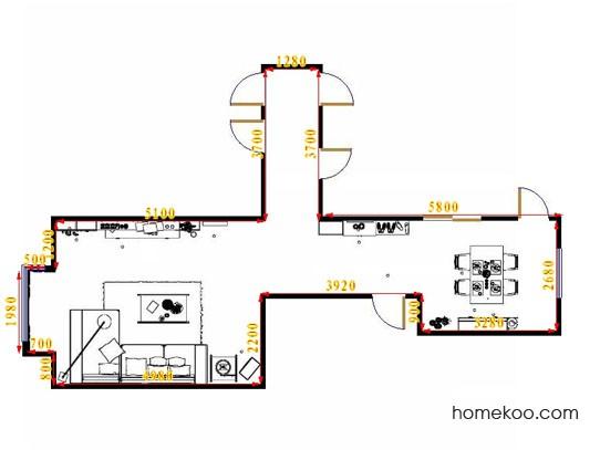 平面布置图德丽卡系列客餐厅G14357