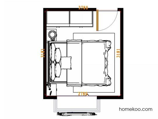 平面布置图乐维斯系列卧房A14319