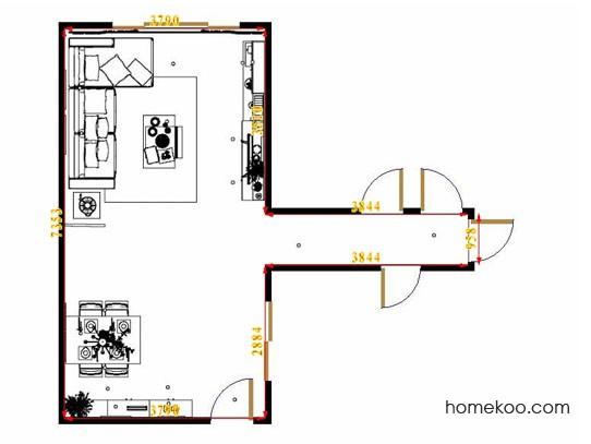 平面布置图贝斯特系列客餐厅G14382