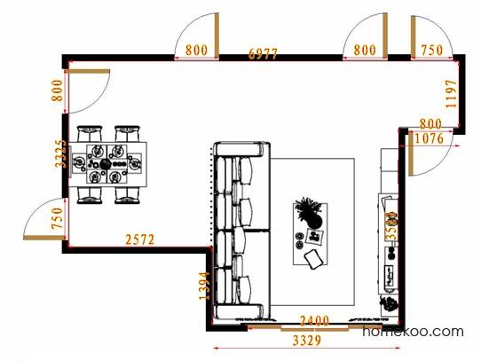 平面布置图乐维斯系列客餐厅G14417