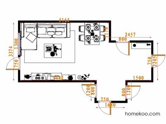 平面布置图德丽卡系列客餐厅G14427
