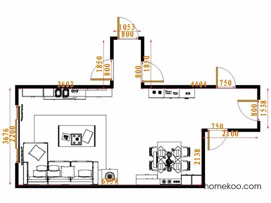 平面布置图柏俪兹系列客餐厅G14443