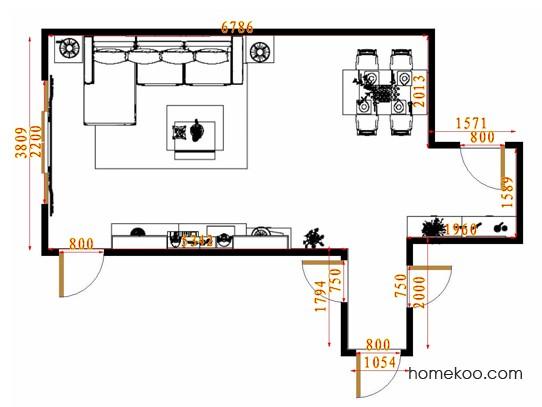平面布置图德丽卡系列客餐厅G14444