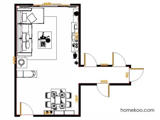平面布置图乐维斯系列客餐厅G14451