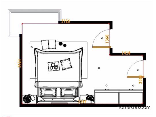 平面布置图柏俪兹系列卧房A14359