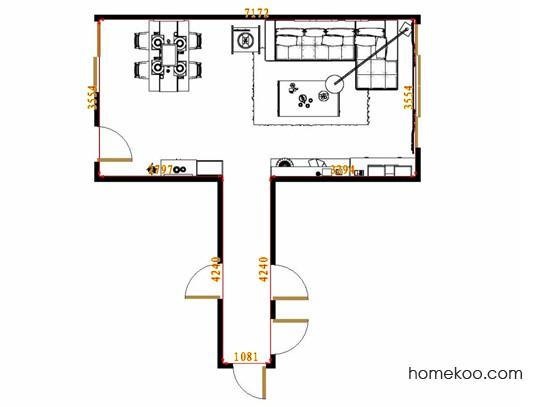 平面布置图乐维斯系列客餐厅G14471