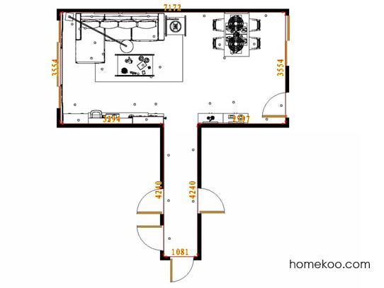 平面布置图德丽卡系列客餐厅G14473