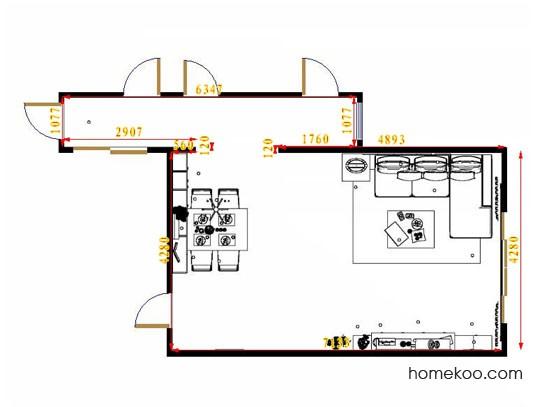 平面布置图德丽卡系列客餐厅G14474