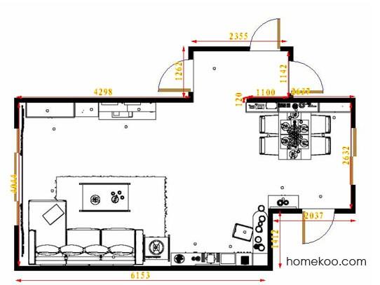 平面布置图贝斯特系列客餐厅G14475