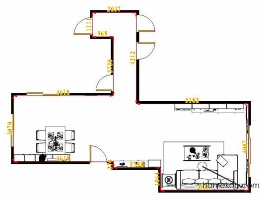 平面布置图格瑞丝系列客餐厅G14477