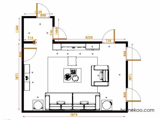 平面布置图乐维斯系列客餐厅G14482