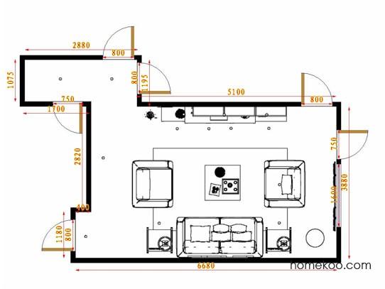 平面布置图斯玛特系列客餐厅G14493