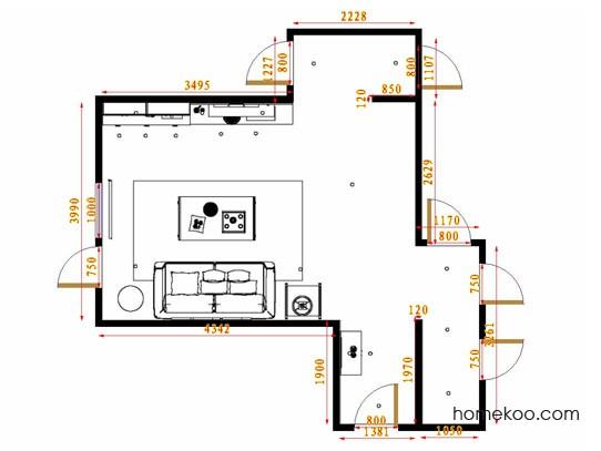 平面布置图贝斯特系列客餐厅G14516