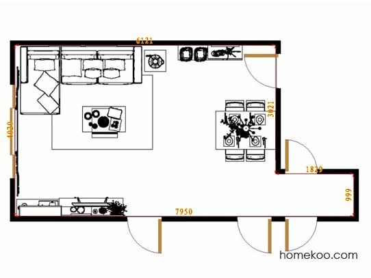 平面布置图斯玛特系列客餐厅G14531
