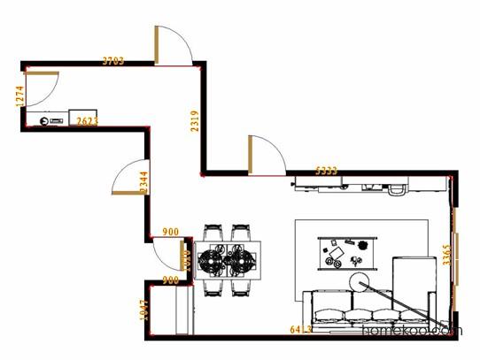 平面布置图柏俪兹系列客餐厅G14532