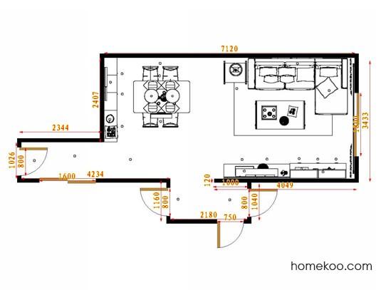 平面布置图德丽卡系列客餐厅G14535
