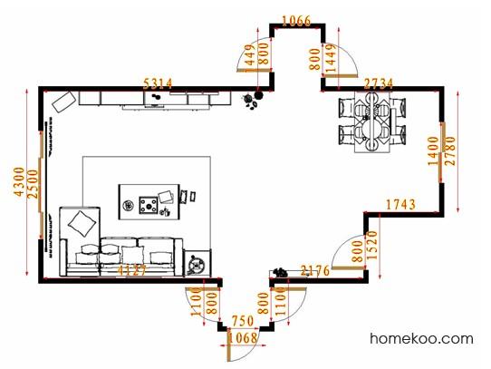 平面布置图乐维斯系列客餐厅G14539