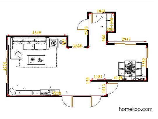平面布置图德丽卡系列客餐厅G14552