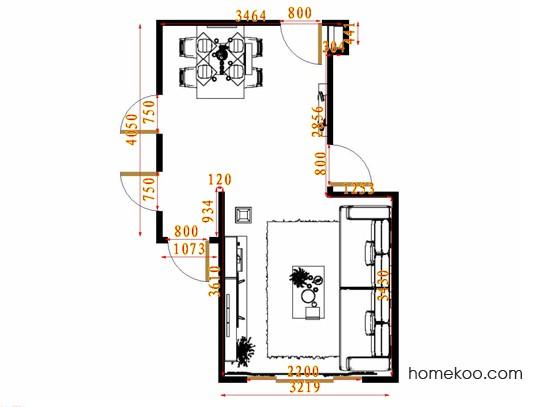平面布置图格瑞丝系列客餐厅G14556