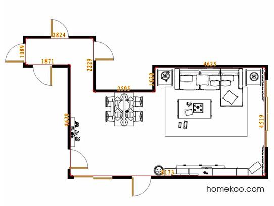 平面布置图格瑞丝系列客餐厅G14561