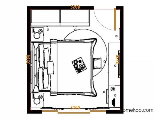 平面布置图乐维斯系列卧房A14497