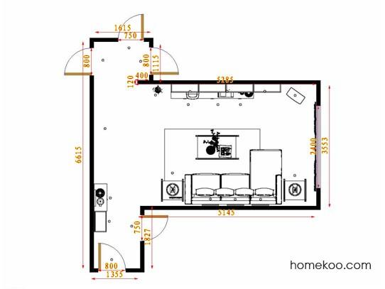 平面布置图德丽卡系列客餐厅G14581
