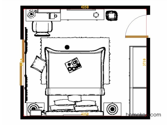 平面布置图斯玛特系列卧房A14511