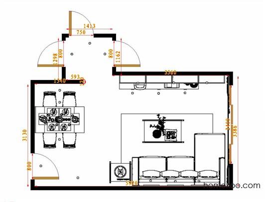 平面布置图贝斯特系列客餐厅G14594