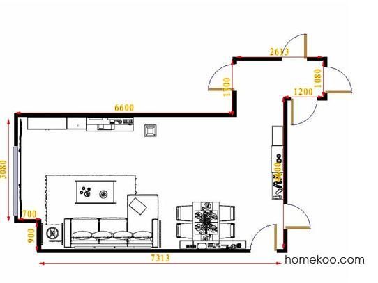 平面布置图贝斯特系列客餐厅G14597