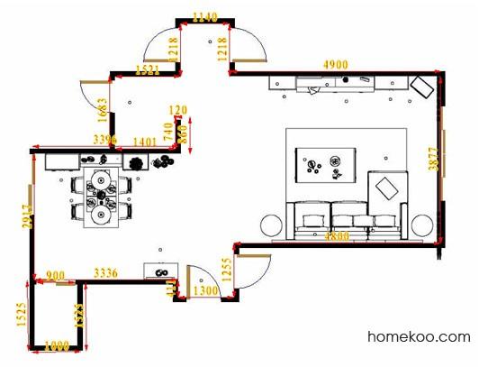 平面布置图斯玛特系列客餐厅G14598