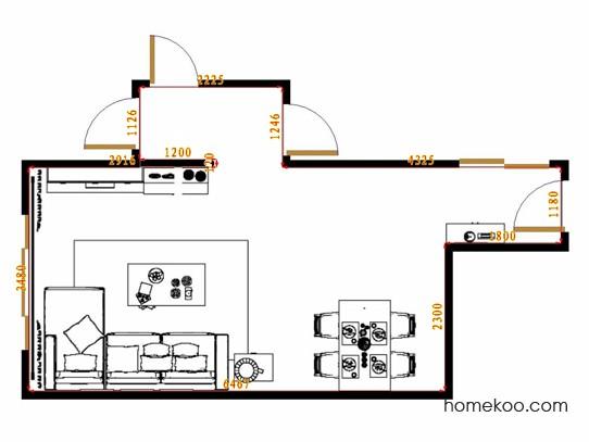 平面布置图德丽卡系列客餐厅G14608