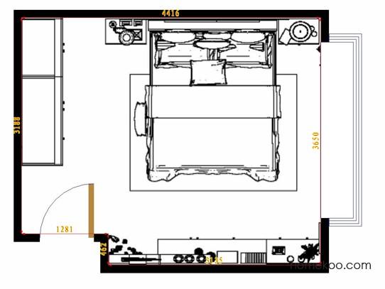 平面布置图德丽卡系列卧房A14530