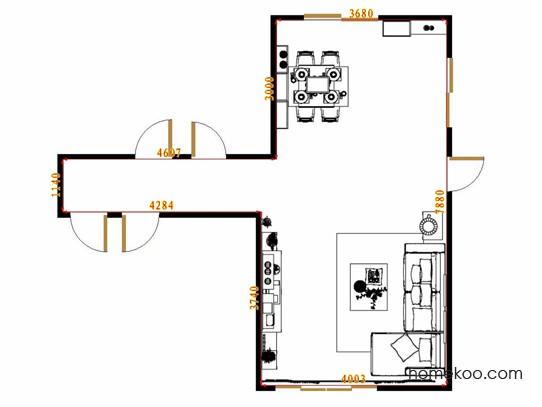 平面布置图斯玛特系列客餐厅G14620