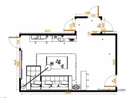平面布置图柏俪兹系列客餐厅G14638