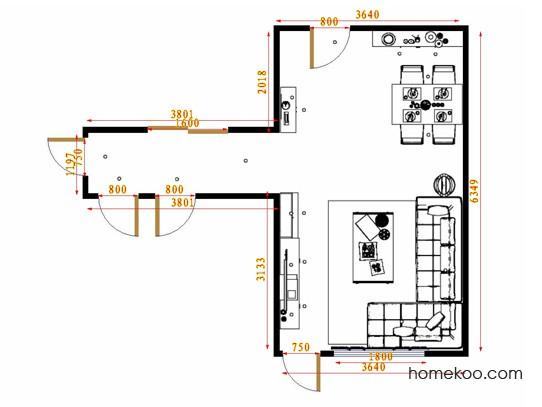 平面布置图乐维斯系列客餐厅G14645